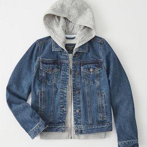 New with tag twofer denim jacket